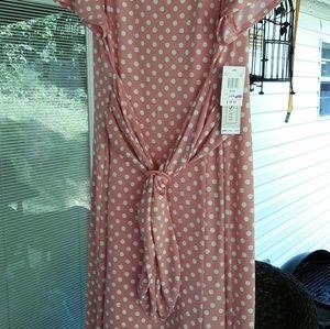 Chelsea suite plus size 20 womens pink white dress